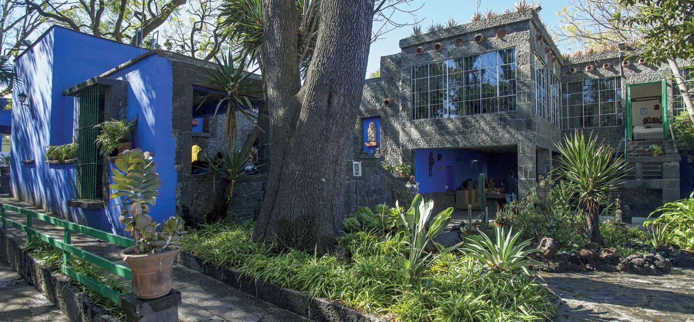 Casa Azul nie zawsze był niebieskim domem. Kiedy powstał w 1904 roku, fasadę pomalowano na biało.