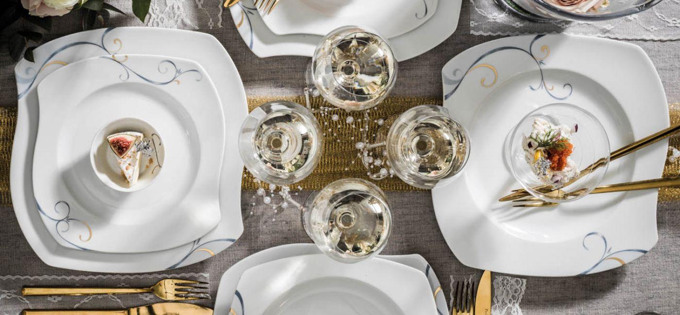 Dekoracja stołu i wnętrza na przyjęcie sylwestrowe