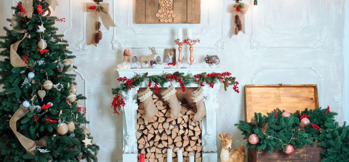 Aranżacja świąteczna w stylu rustykalnym. Odpowiednia również do wnętrz skandynawskich i typu eko.