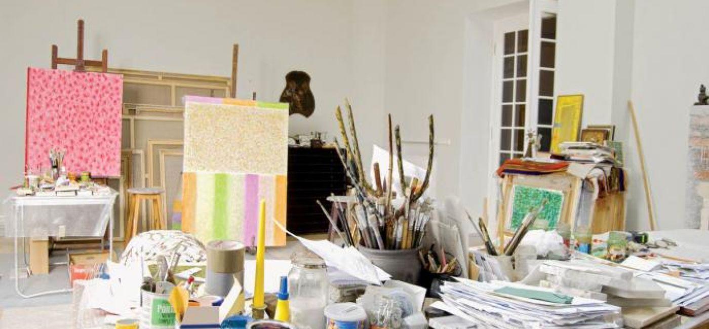 Dom dla obrazów. Artysta, obraz, malarz, dom artysty, obrazy w domu, stefan gierowski