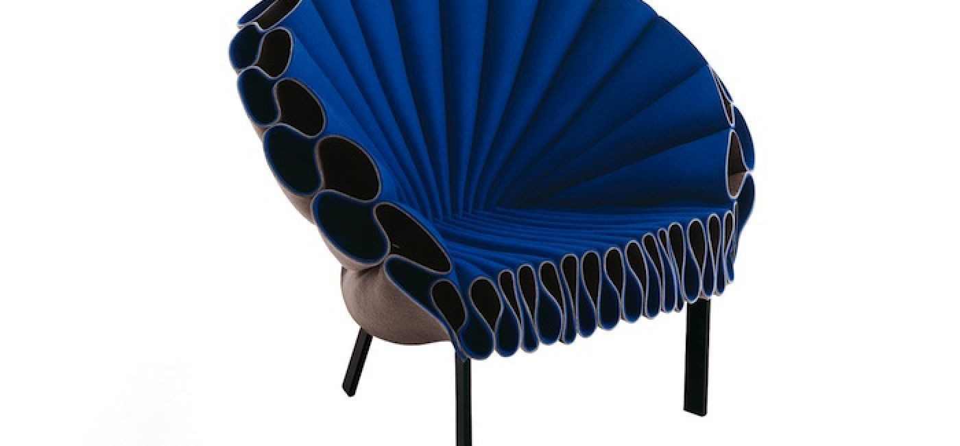 Fantazyjny fotel z filcu (cappellini.it)