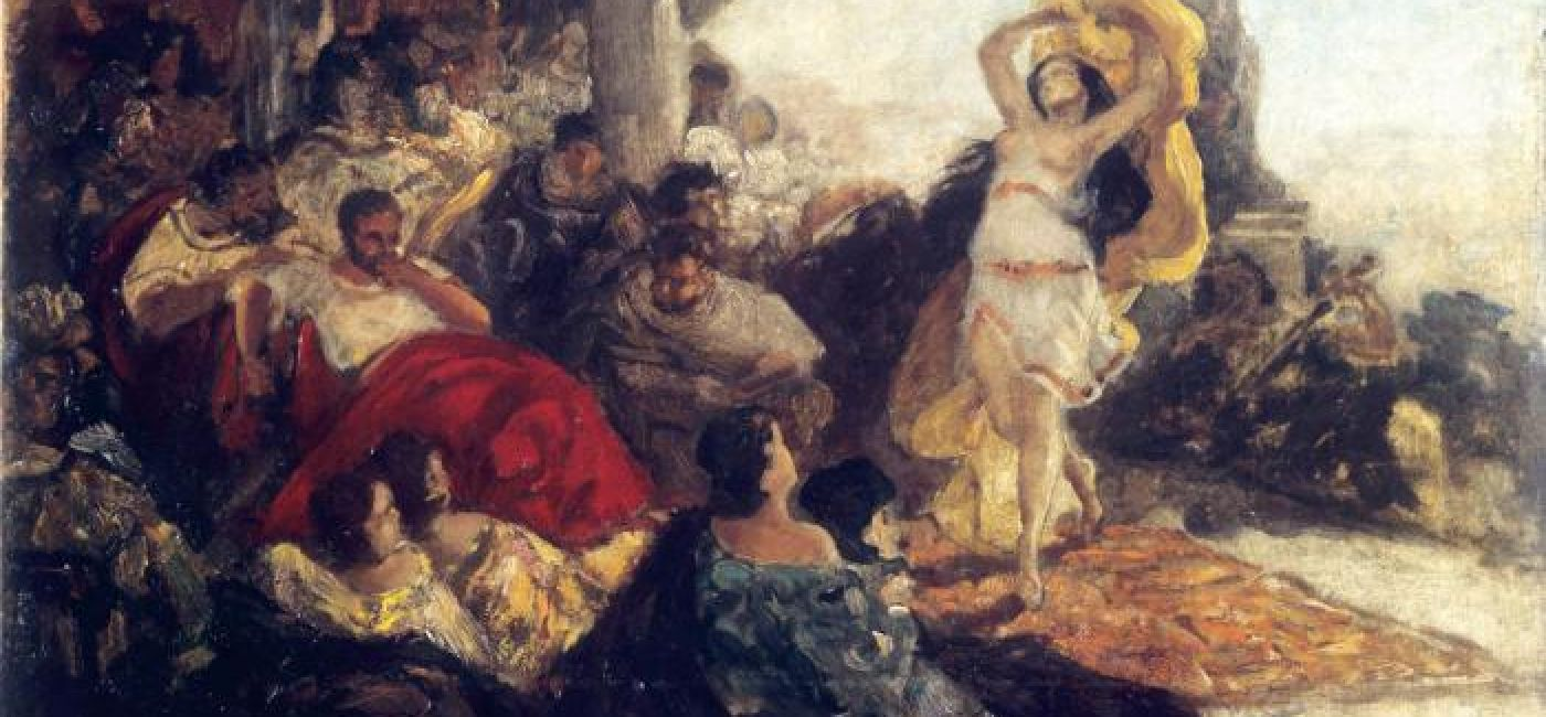 Salome's dance (Maurycy Moses Gottlieb, 1879)