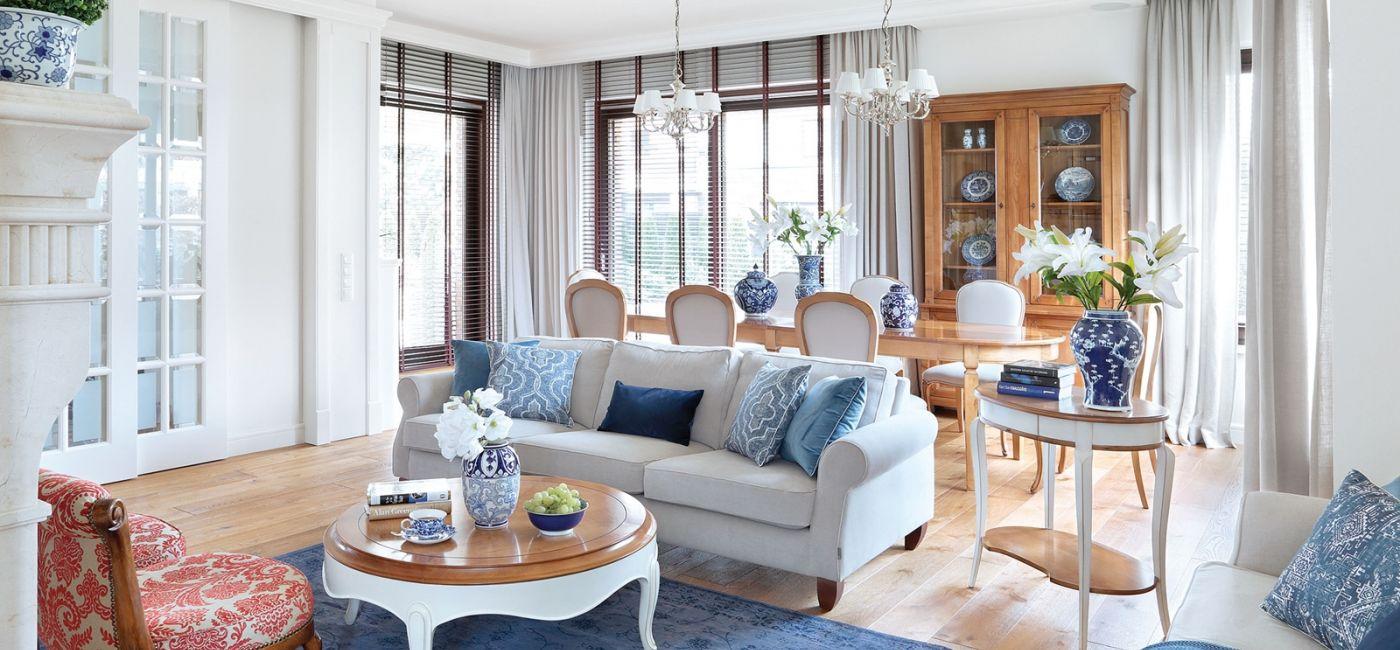 Mieszkanie pod Warszawą w stylu Hampton