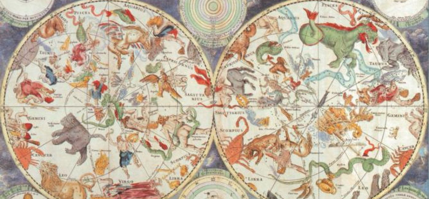 Sfery niebieskie, ok. 1690 r. Stare mapy