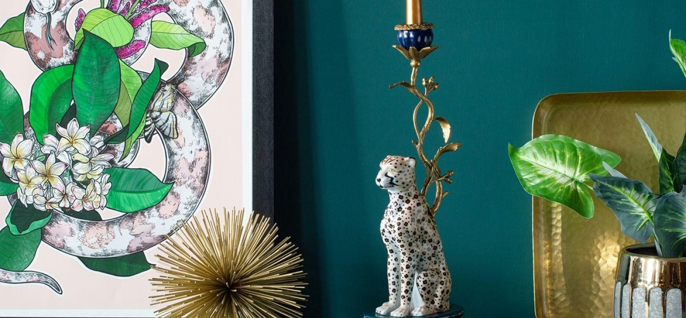 Świecznik dekoracyjny Leopard, Audenza