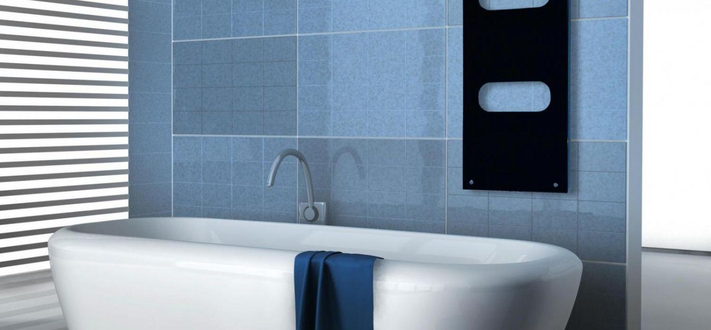 Szklany grzejnik dekoracyjny do pokoju i łazienki