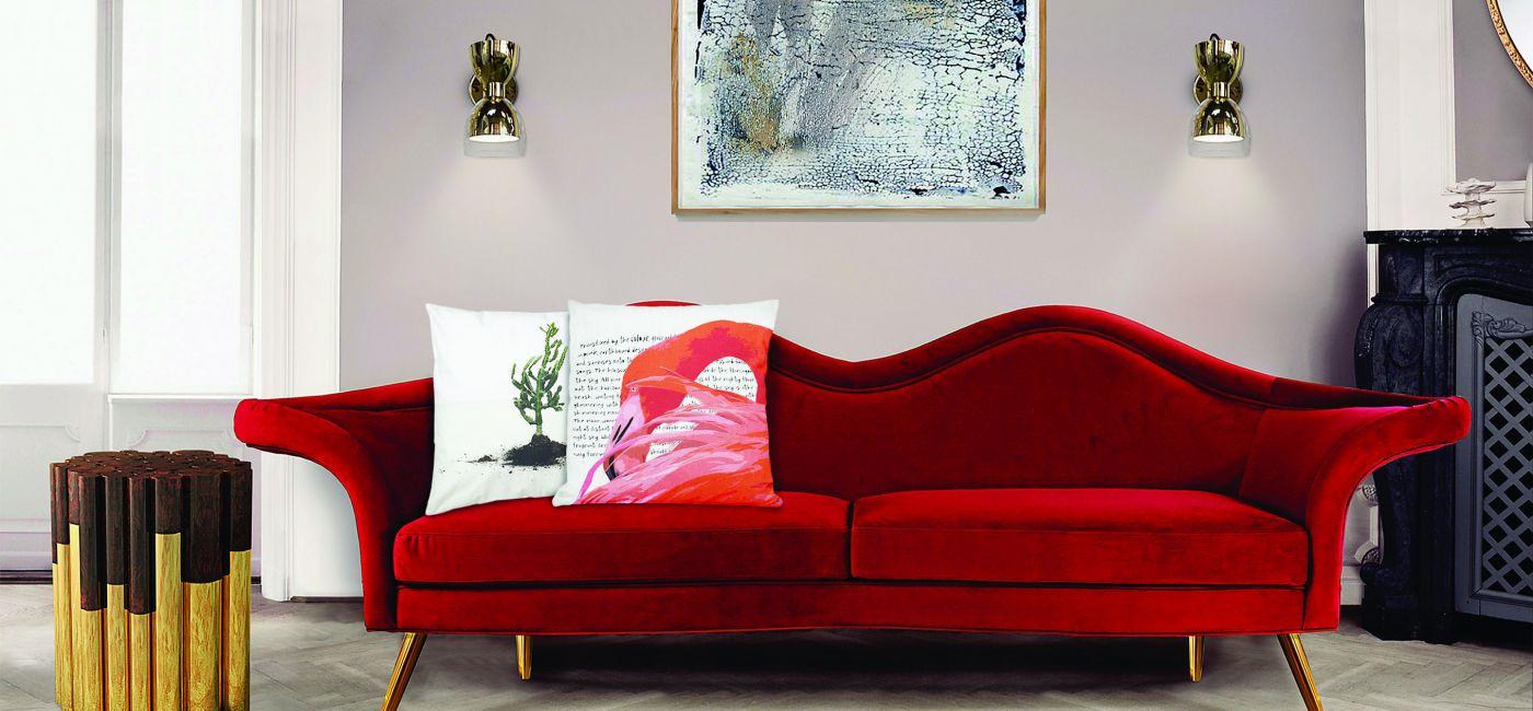 trendy jesień 2018 sofa czerwona