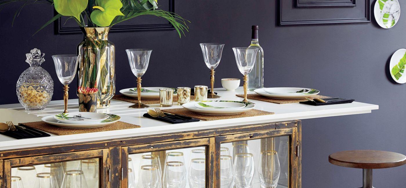 przyjęcie karnawałowe dekoracja stołu i wnętrza