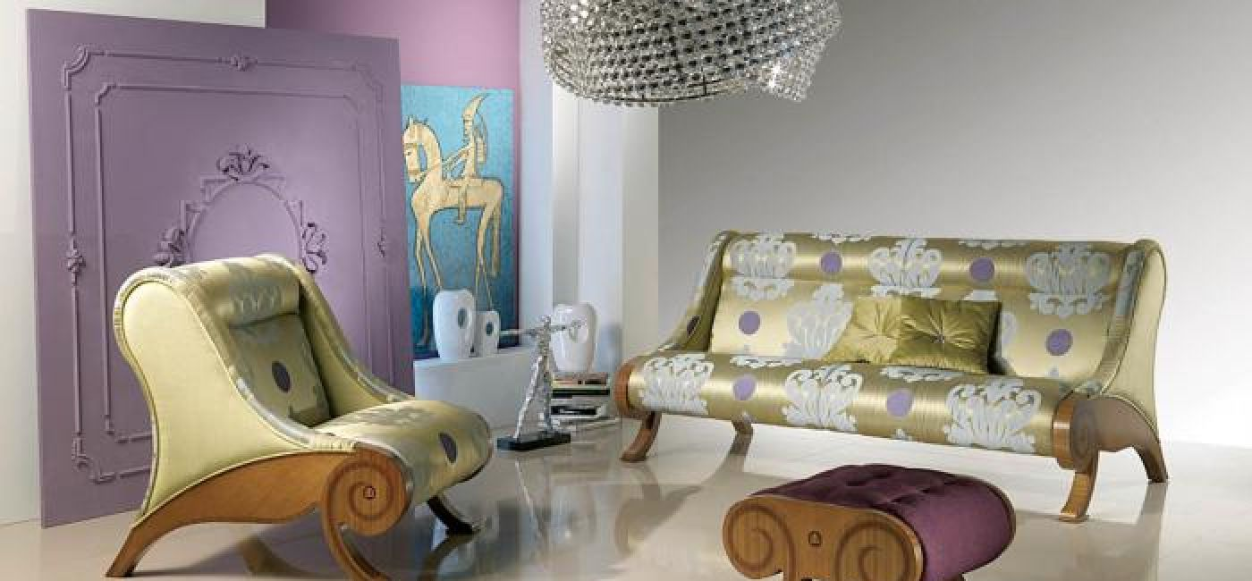 W stylu glamour: intarsjowane meble firmy Carpanelli z najnowszej kolekcji Atelier 2008. Trzyosobowa sofa kosztuje