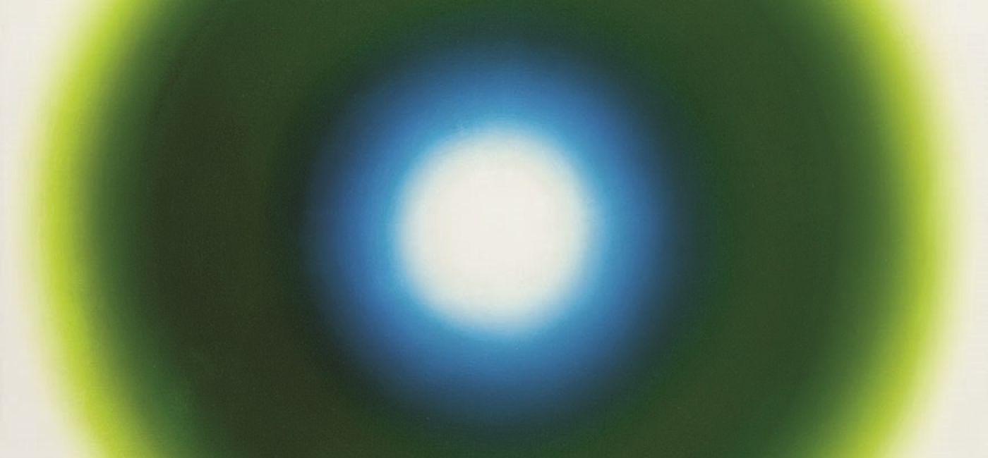 E 6 , olej na płótnie, 1965 r. Wojciech Fangor – sztuka optyczna