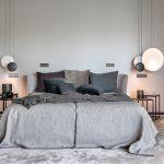 nowoczesna szara sypialnia