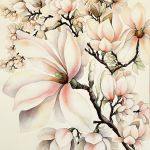 magnolie Anny Blincoe obraz