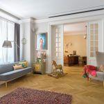 salon w stylu vintage i nowoczesnym