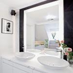 paryski styl łazienka czerń i biel