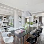paryski styl salon jasne wnętrze