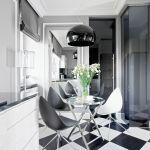 paryski styl kuchnia szachownica
