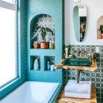 łazienka w stylu jungalow