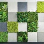 Z chrobotka reniferowego na samoprzylepnych panelach można układać fantazyjne dekoracje, mossdecor.pl