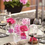 pelargonie dekoracje stołu