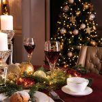 dekoracja stołu na święta i nowy rok