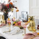 Dekoracja stołu na przyjęcie noworoczne