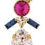 Wisior Zuzia z kryształów Swarovskiego, różne warianty kolorystyczne, 10 Decoart