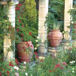 aranżacja ogrodu kolumnada