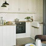 biała kuchnia w stylu vintage