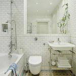 Klasyczna łazienka z płytkami na podłodze (marki Winckelmans) i na ścianach (Grazia). Wanna z Kaldewei, a baterie i umywalka