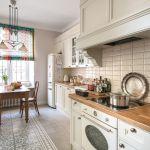 biała kuchnia w stylu eklektycznym