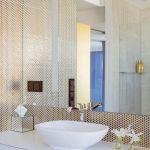 łazienka biało złota