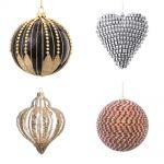 Zdobione kule i serce, Almi Decor. Najpiękniejsze bombki choinkowe - galeria 50 ozdób świątecznych