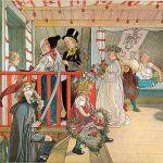 Carl Larsson Imieniny w Harbret , album W domu .