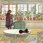 Carl, mąż Karin, malował: dekoracje naścienne i meble, a potem sielskie życie swojej rodziny w Lilla Hyttnäs.