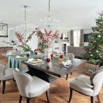 dekoracje bożonarodzeniowe do jadalni