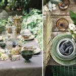 dekoracja stołu ogrodowego na przyjęcie