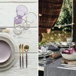dekoracja stołu: piękny stół na przyjęcie w ogrodzie