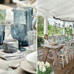 piękny stół na przyjęcie w ogrodzie