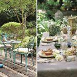 dekoracja stołu ogrodowego