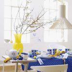 Dekoracje wielkanocne niebieskie