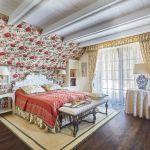 dom w stylu country sypialnia wystrój