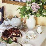 dom w stylu country  kuchnia porcelana