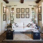 dom w stylu country salon fotografie