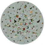 Nowoczesny okrągły dywan w kwiaty