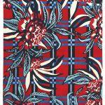 dywan w kwiaty czerwony