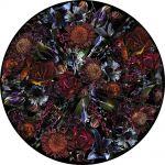 dywan okrągły w kwiaty