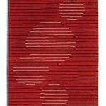 czerwony dywan geometryczny