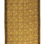 dywan orientalny musztardowy