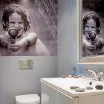 Fototapeta i ściany bez kafelków. Biały apartament nad morzem