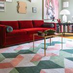 jak dobrać rozmiar dywanu w salonie